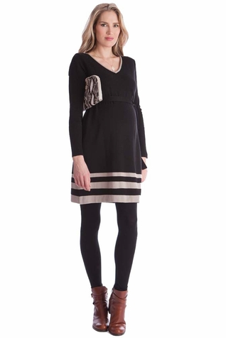 Seraphine Dixie V Neck Knit Maternity Dress