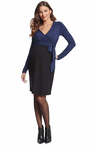 SOLD OUT Seraphine Elsa Maternity Nursing Wrap Dress