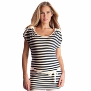 Seraphine Frankie Nautical Striped Maternity Nursing Tunic