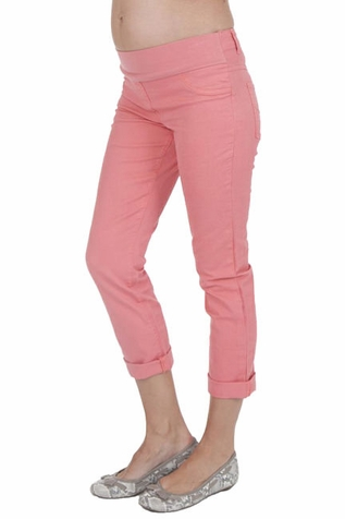 Seraphine Hazel Cropped Maternity Jeans - Coral
