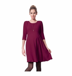 Seraphine Iris Maternity Woven Swing Dress