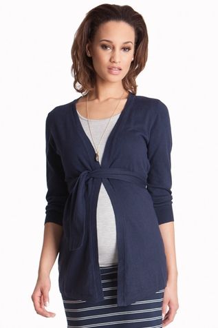 SOLD OUT Seraphine Jasmine Cotton Maternity Cardigan Sweater