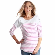 Seraphine Jillian Breton Stripe Maternity Nursing Top
