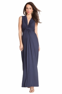 SOLD OUT Seraphine Jo Knot Front Maternity And Nursing Maxi Dress