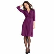 Seraphine Jolene Knot Front Maternity And Nursing Dress - 3/4 Sleeve