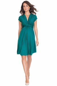 Seraphine Jolene Knot Front Maternity And Nursing Dress - Short Sleeve