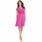 TEMPORARILY SOLD OUT Seraphine Jolene Knot Front Maternity And Nursing Dress - Short Sleeve