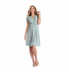 Seraphine Jolene Knot Front Maternity And Nursing Dress - Short Sleeve - Print