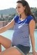 Seraphine Juno Striped Maternity And Nursing Top