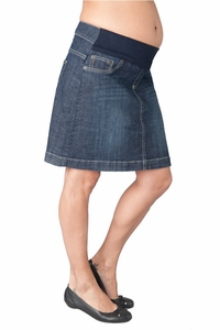 Seraphine Kai Mid Length Denim Maternity Skirt
