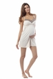 Seraphine Lace Trim Paris Maternity And Nursing Nightie/Slip
