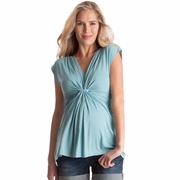 Seraphine Liza Knot Front Sleeveless Maternity Top