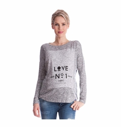 "Seraphine ""Love No. 1""  Maternity Graphic Sweater"