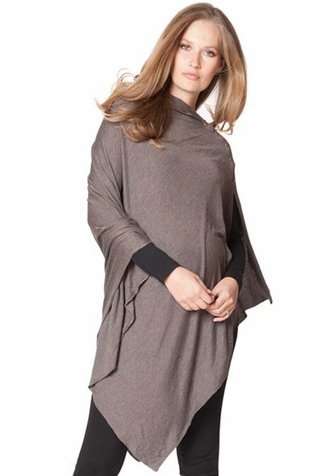 SOLD OUT Seraphine Madison Maternity Bamboo Poncho & Nursing Shawl - Winter Weight