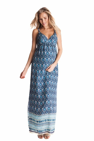 SOLD OUT Seraphine Maggie Paisley Print Maternity Maxi Dress