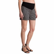 Seraphine Marietta Bow Print Cotton Maternity Shorts