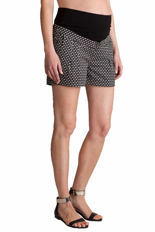 SOLD OUT Seraphine Marietta Bow Print Cotton Maternity Shorts