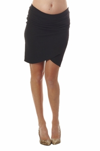 Seraphine Martine Maternity Mock Wrap Skirt