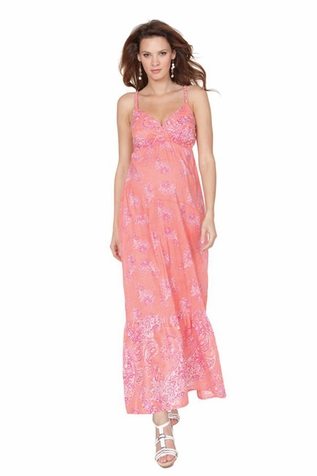 SOLD OUT Seraphine Matilda Bohemian Printed Maxi Dress - Pink/Coral