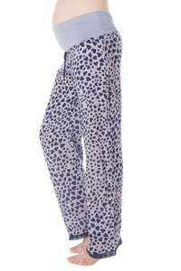 Seraphine Miami Heart Print Maternity Pajama Bottoms