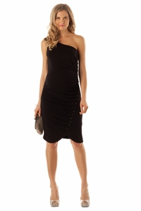 SOLD OUT Seraphine Nergis Maternity Cocktail Dress With Sequin Buttons