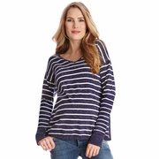 Seraphine Poppy Maternity Nursing Cotton/Cashmere Sweater