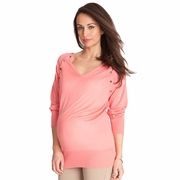 Seraphine Rebecca Bamboo Maternity Nursing Snap Down Sweater