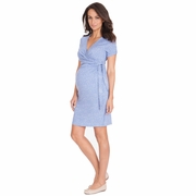 Seraphine Renata Faux Wrap Maternity And Nursing Dress