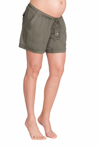 SOLD OUT Seraphine Saffia Elastic Waist Casual Maternity Shorts