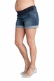 Seraphine Scarlet Maternity Denim Mini Shorts