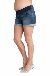 SOLD OUT Seraphine Scarlet Maternity Denim Mini Shorts