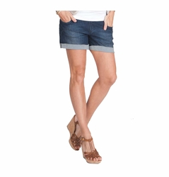 Seraphine Sicily Underbump Maternity Denim Mini Shorts