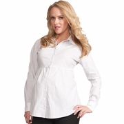 Seraphine Striped Empire Maternity Shirt