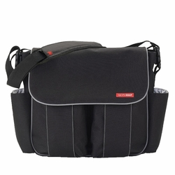Skip Hop Dash Deluxe Messenger Diaper Bag -  Black