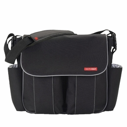 SOLD OUT Skip Hop Dash Deluxe Messenger Diaper Bag -  Black