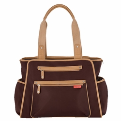 Skip Hop Grand Central Tote Diaper Bag - Chocolate Brown