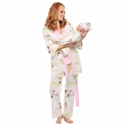 SOLD OUT 5 Piece Mom And Baby Pajama Set - Pink By Olian