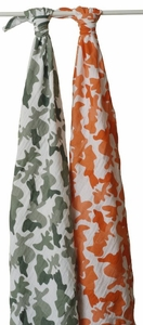 SOLD OUT Aden + Anais Muslin Swaddlng Blankets 2 Pack - Camo