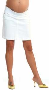 SOLD OUT  Allie White Denim Maternity Skirt by Seraphine