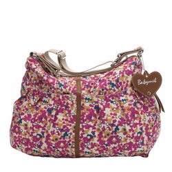 OUT OF STOCK Babymel Amanda Hobo Diaper Bag - Fuchsia Color Burst