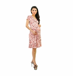 Annee Matthew Maternity And Nursing Wrap Dress