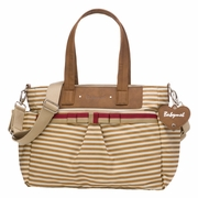 TEMPORARILY OUT OF STOCK Babymel Cara Tote Diaper Bag - Tan Stripe