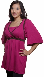 SOLD OUT Blissful Babes Butterfly Sleeve Nursing Tunic-FINAL SALE