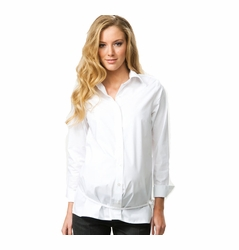 SOLD OUT Crave Long Sleeve Tie Belt Career Maternity Shirt