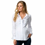 SOLD OUT Crave Ruffle Front Maternity Shirt