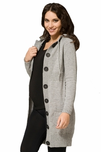SOLD OUT Dash Button Up Maternity Cardigan by Ripe