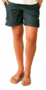 SOLD OUT Denim Tab Maternity Shorts by Maternal America