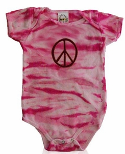 SOLD OUT Diaper Dude Pink Camo Peace Bodysuit - FINAL SALE