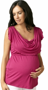 SOLD OUT Drape Cowl Neck Maternity Top by Maternal America