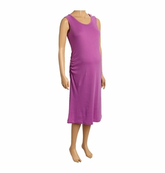SOLD OUT Due Maternity Pregnancy And Beyond Tank Dress - Solid Radiant Orchid